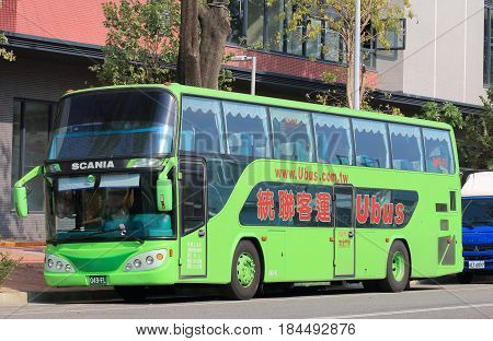 TAICHUNG TAIWAN - DECEMBER 10, 2016: ubus. ubus is a long distance bus company operating in Taiwan.