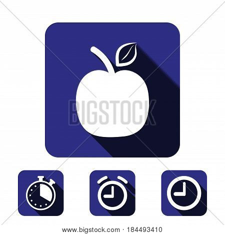 apple icon stock vector illustration flat design
