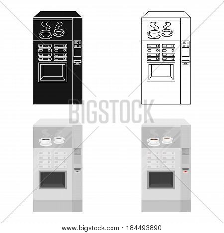 Office coffee vending machine icon in cartoon style isolated on white background. Office furniture and interior symbol vector illustration.