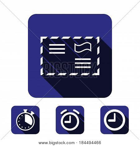 letter envelope icon stock vector illustration flat design