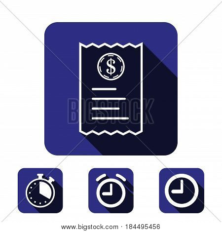 receipt icon stock vector illustration flat design