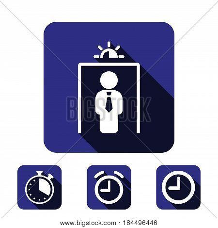 metal detector icon stock vector illustration flat design