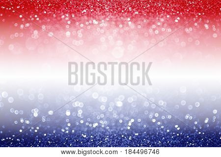 Abstract patriotic red white and blue glitter sparkle background for voting, memorial, labor day and election
