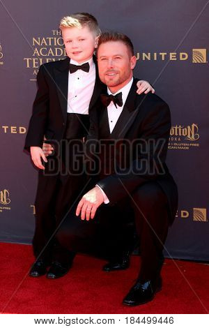 LOS ANGELES - APR 30:  Jacob Young, son at the 44th Daytime Emmy Awards - Arrivals at the Pasadena Civic Auditorium on April 30, 2017 in Pasadena, CA