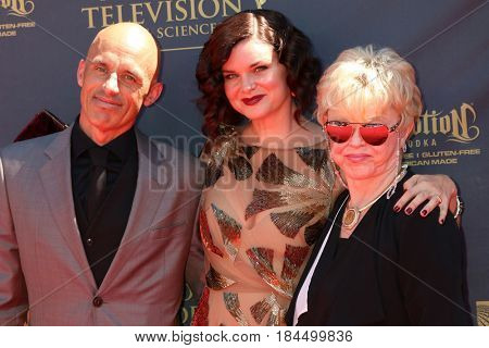 LOS ANGELES - APR 30:  James Achor, Heather Tom, Marie Tom at the 44th Daytime Emmy Awards - Arrivals at the Pasadena Civic Auditorium on April 30, 2017 in Pasadena, CA
