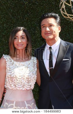 LOS ANGELES - APR 30:  Courtney Laine Mazza, Mario Lopez at the 44th Daytime Emmy Awards - Arrivals at the Pasadena Civic Auditorium on April 30, 2017 in Pasadena, CA
