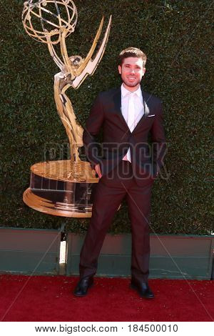 LOS ANGELES - APR 30:  Kristos Andrews at the 44th Daytime Emmy Awards - Arrivals at the Pasadena Civic Auditorium on April 30, 2017 in Pasadena, CA
