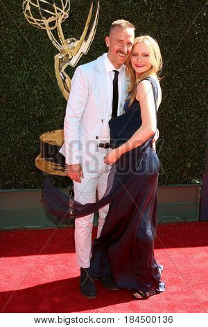 LOS ANGELES - APR 30:  Ryan Matteson, Marci Miller at the 44th Daytime Emmy Awards - Arrivals at the Pasadena Civic Auditorium on April 30, 2017 in Pasadena, CA