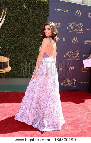 LOS ANGELES - APR 30:  Camila Banus at the 44th Daytime Emmy Awards - Arrivals at the Pasadena Civic Auditorium on April 30, 2017 in Pasadena, CA