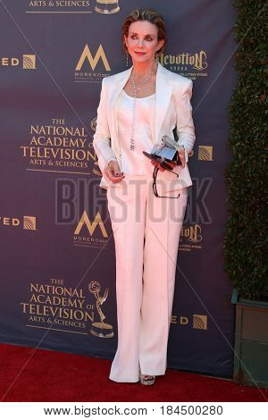 LOS ANGELES - APR 30:  Judith Chapman at the 44th Daytime Emmy Awards - Arrivals at the Pasadena Civic Auditorium on April 30, 2017 in Pasadena, CA