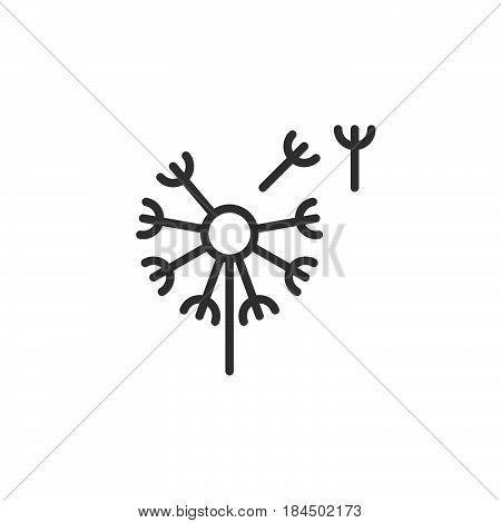 Вandelion taraxacum line icon outline vector sign linear style pictogram isolated on white. Blowball symbol logo illustration. Editable stroke. Pixel perfect