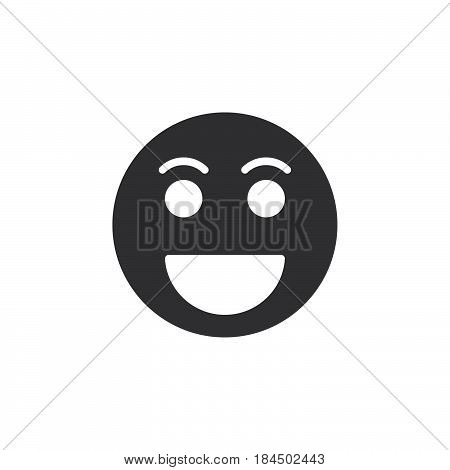 Grinning face Happy smile emoji icon vector filled flat sign solid pictogram isolated on white. Symbol logo illustration. Pixel perfect