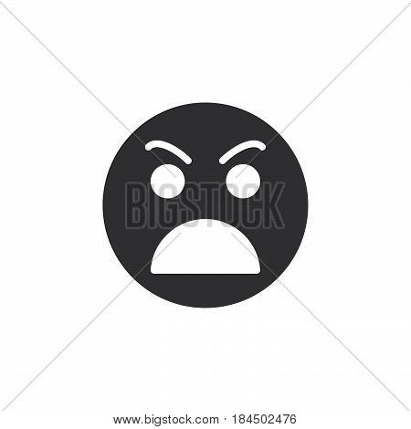 Grimacing angry face icon vector filled flat sign solid pictogram isolated on white. Symbol logo illustration. Pixel perfect