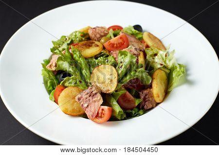 Salad With Tuna. Italian Style. Italian Food. Italian Cuisine.