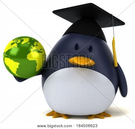 Fun penguin - 3D Illustration