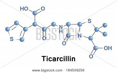 Ticarcillin is a carboxypenicillin, a penicillin from class of beta-lactam antibiotics with main clinical use is as an injectable antibiotic for the treatment of Gram-negative bacteria
