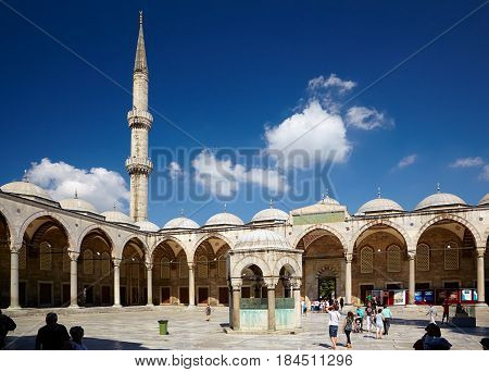The Inner Courtyard Of Sultan Ahmed Mosque (blue Mosque), Istanbul