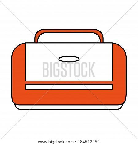 color silhouette image executive bag with handle vector illustration