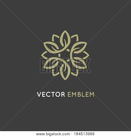 Vector Logo Design Template - Beauty Spa Concept