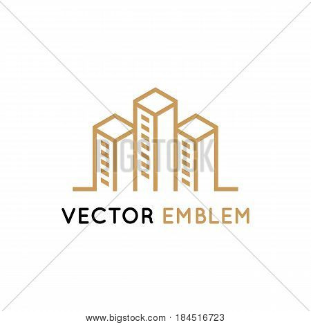 Vector Logo Design - Architecture And Building Sign