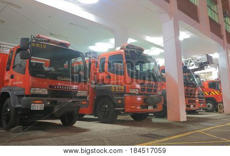 TAICHUNG TAIWAN - DECEMBER 10, 2016: Fire engine station in Taichung.