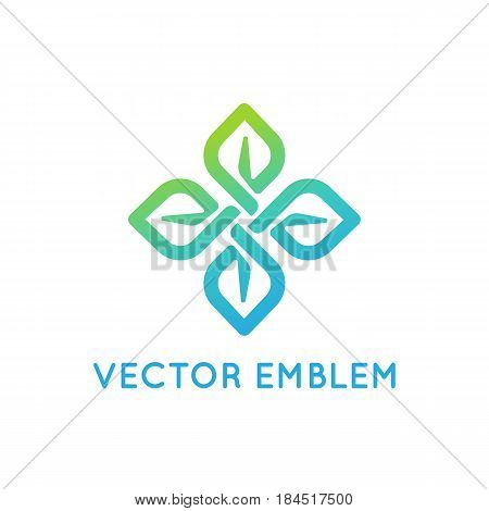 Vector Logo Design Template - Beauty And Organic Concept