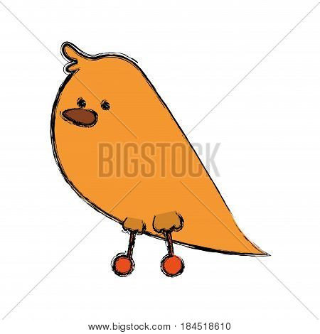 Cute birdie cartoon icon vector illustration graphic design