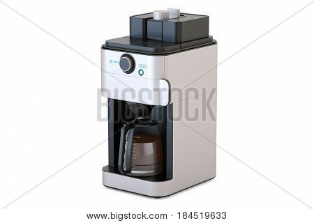 Coffeemaker or coffee machine 3D rendering isolated on white background