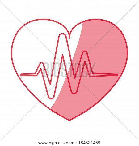 Cardiology medical symbol icon vector illustration graphic design