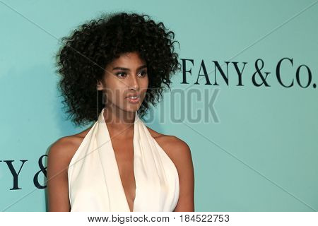 BROOKLYN, NY-APR 21: Model Imaan Hammam attends the Tiffany & Co. 2017 Blue Book Collection Gala at St. Ann's Warehouse on April 21, 2017 in Brooklyn, New York.