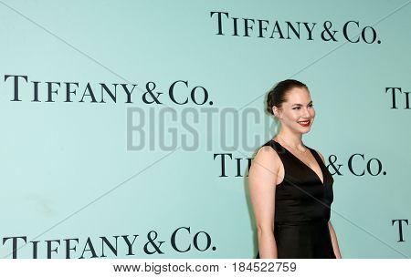 BROOKLYN, NY-APR 21: Emma Hepburn Ferrer attends the Tiffany & Co. 2017 Blue Book Collection Gala at St. Ann's Warehouse on April 21, 2017 in Brooklyn, New York.