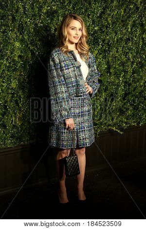 NEW YORK-APR 24: Actress Dianna Agron attends the 12th Annual Tribeca Film Festival Artists Dinner hosted by Chanel at Balthazar Restaurant on April 24, 2017 in New York City.
