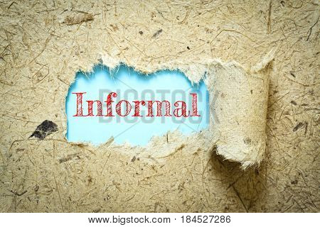 Text Informal on paper blue has Mulberry paper background you can apply to your product.
