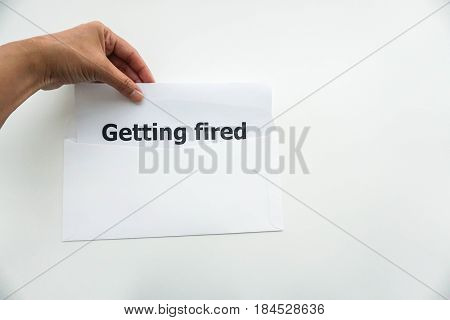 business concept of employee getting fired from the company