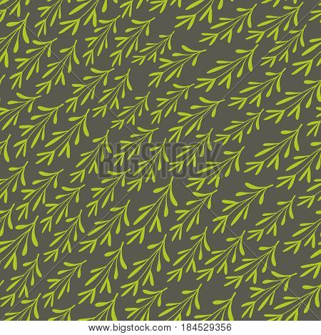 Simple endless background with abstract grass. Vector illustration of nature.