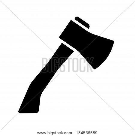 Cartoon Ax, Hatchet Silhouette Vector Symbol Icon Design.