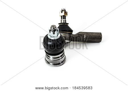 Tie rod end, ball joint  on a white background isolated.  Auto Parts. Spare parts for the repair of cars.