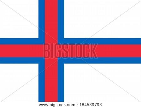 Colored Flag Of Faroe Islands