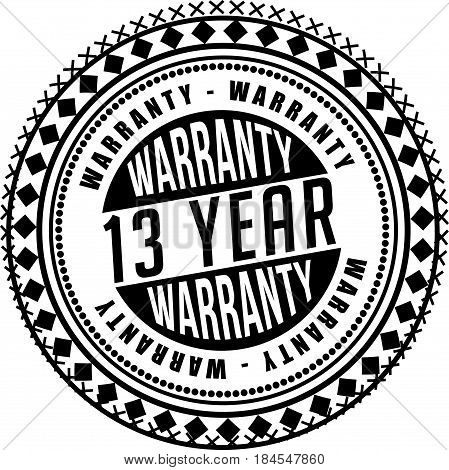 15 years and lifetime warranty label icon