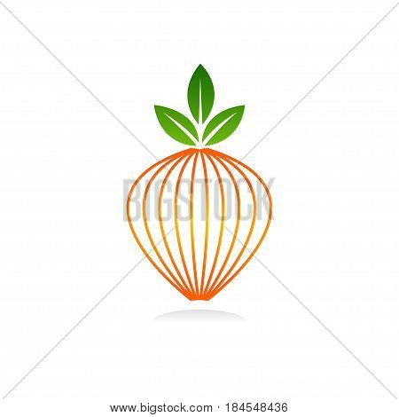 fruit logo vector, Illustration art of a fruit logo with background
