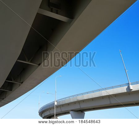 fragment of the overpass against the sky