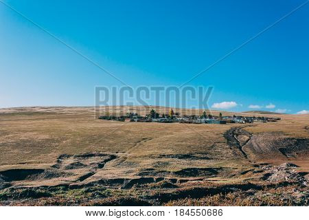 A City/house Area In Inner Mongalia's Grassland
