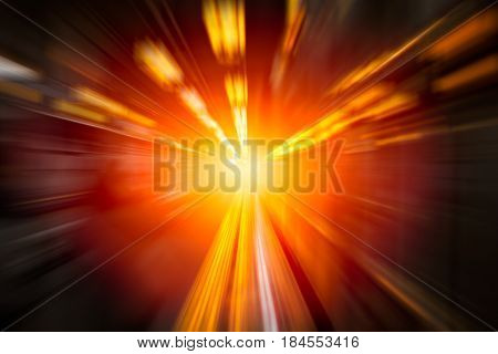 Moving Fastest High speed concept Acceleration super fast speedy drive motion blur of lightning abstract for background design.