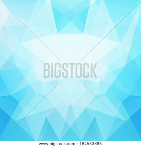Geometric Pattern, Polygon Triangles Vector Background In Blue And White Tones. Illustration Pattern