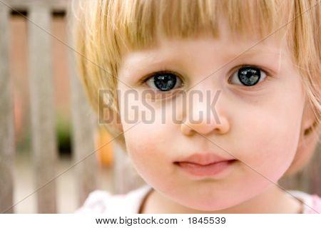 Cute Girl Toddler Looking Curious.