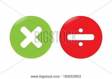 Multiply multiplication  vector icon set design .