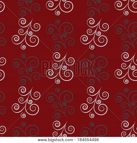 Twig seamless pattern. Fashion graphic background design. Modern stylish abstract texture. Colorful template for prints textiles wrapping wallpaper website etc. Vector illustration