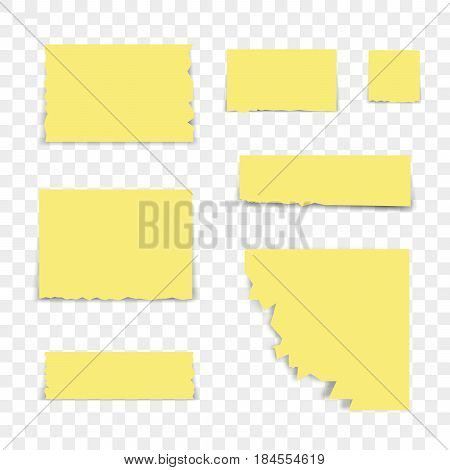 Isolated sticky note on transparent background.  Vector illustration.