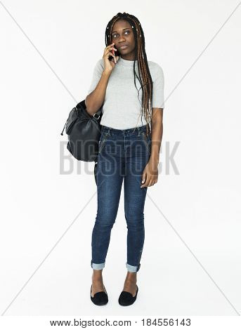 Young teen using smart phone techie lifestyle