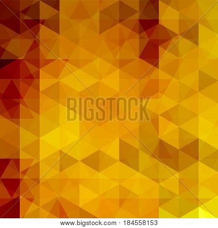 Abstract Geometric Style Orange Background. Vector Illustration